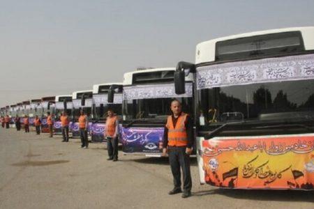 آمادگی ۲ هزار و ۵۰۰ دستگاه اتوبوس برای انتقال زمینی زائران / بازگشت زمینی زائران اربعین فقط از مرز مهران و شلمچه